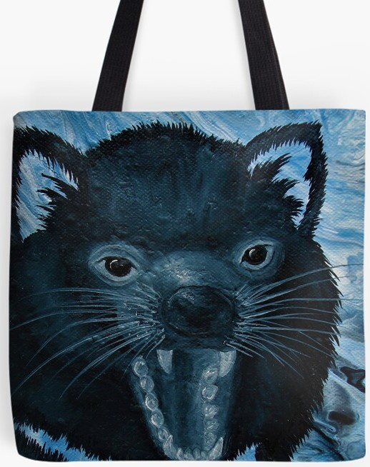 Tasmanian Devil Tote Bag By Gem's Artistic Creations