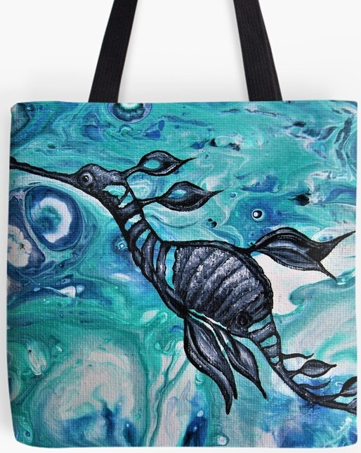 Weedy Sea Dragon Tote Bag By Gem's Artistic Creation