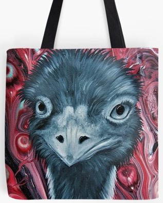 Emu Tote Bag By Gem's Artistic Creations
