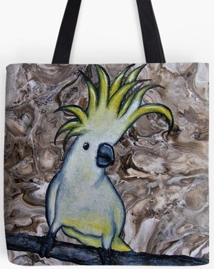 White Cockatoo Tote Bag By Gem's Artistic Creations