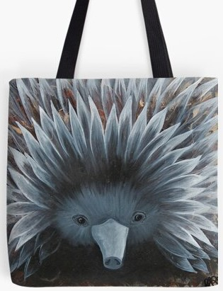 Echidna Tote Bag By Gem's Artistic Creations