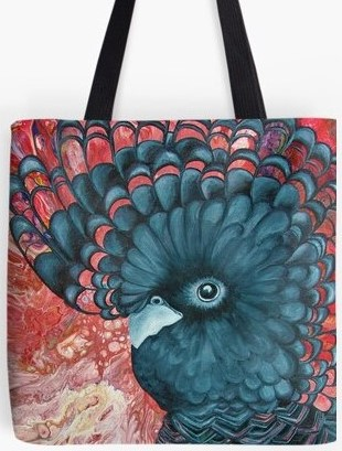 Black Cockatoo Tote Bag By Gem's Artistic Creations