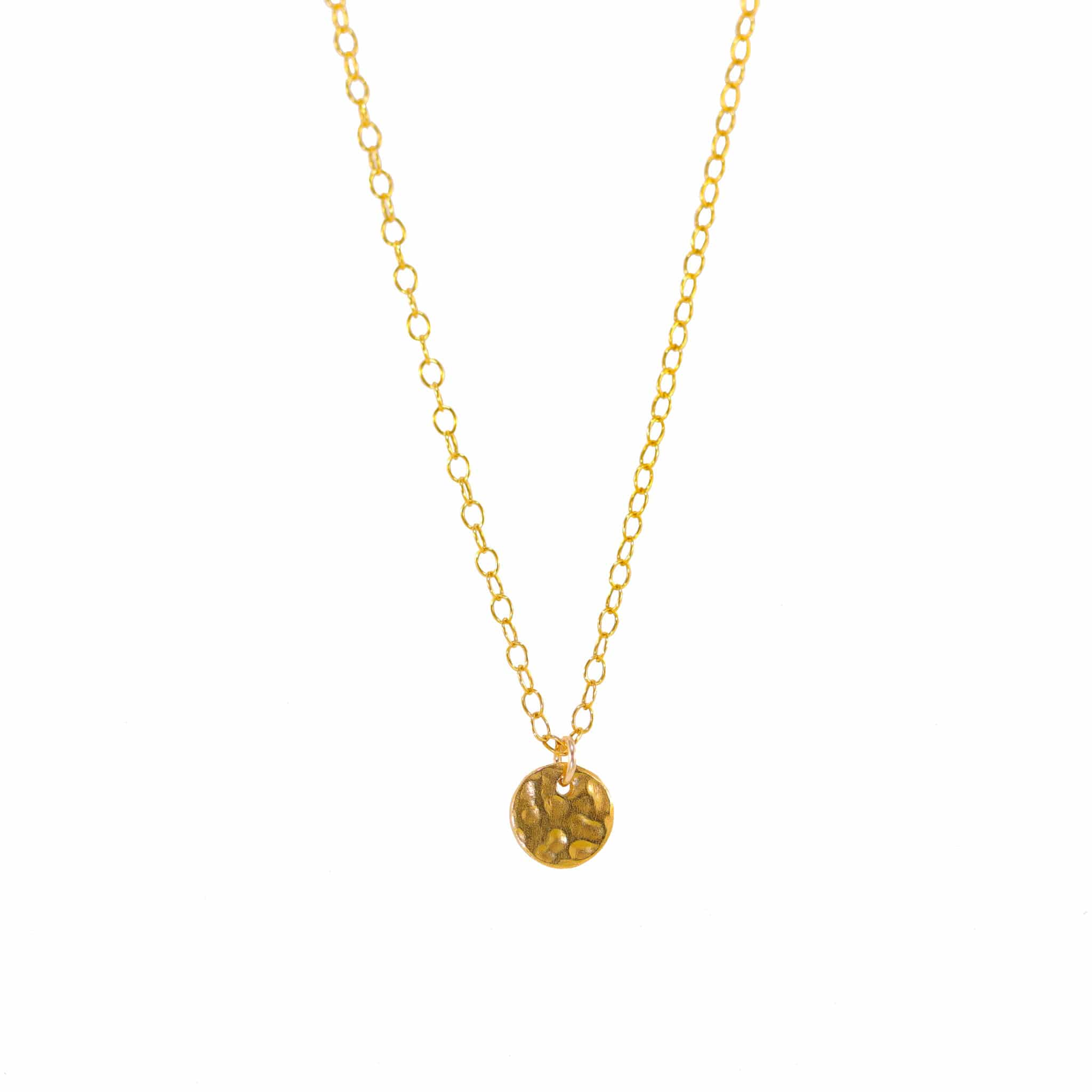 Impressions Small Gold Disc Pendant Necklace