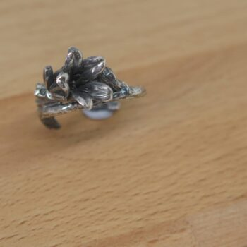 blue-bell-sterling-silver-flower-ring-by-Germano Arts