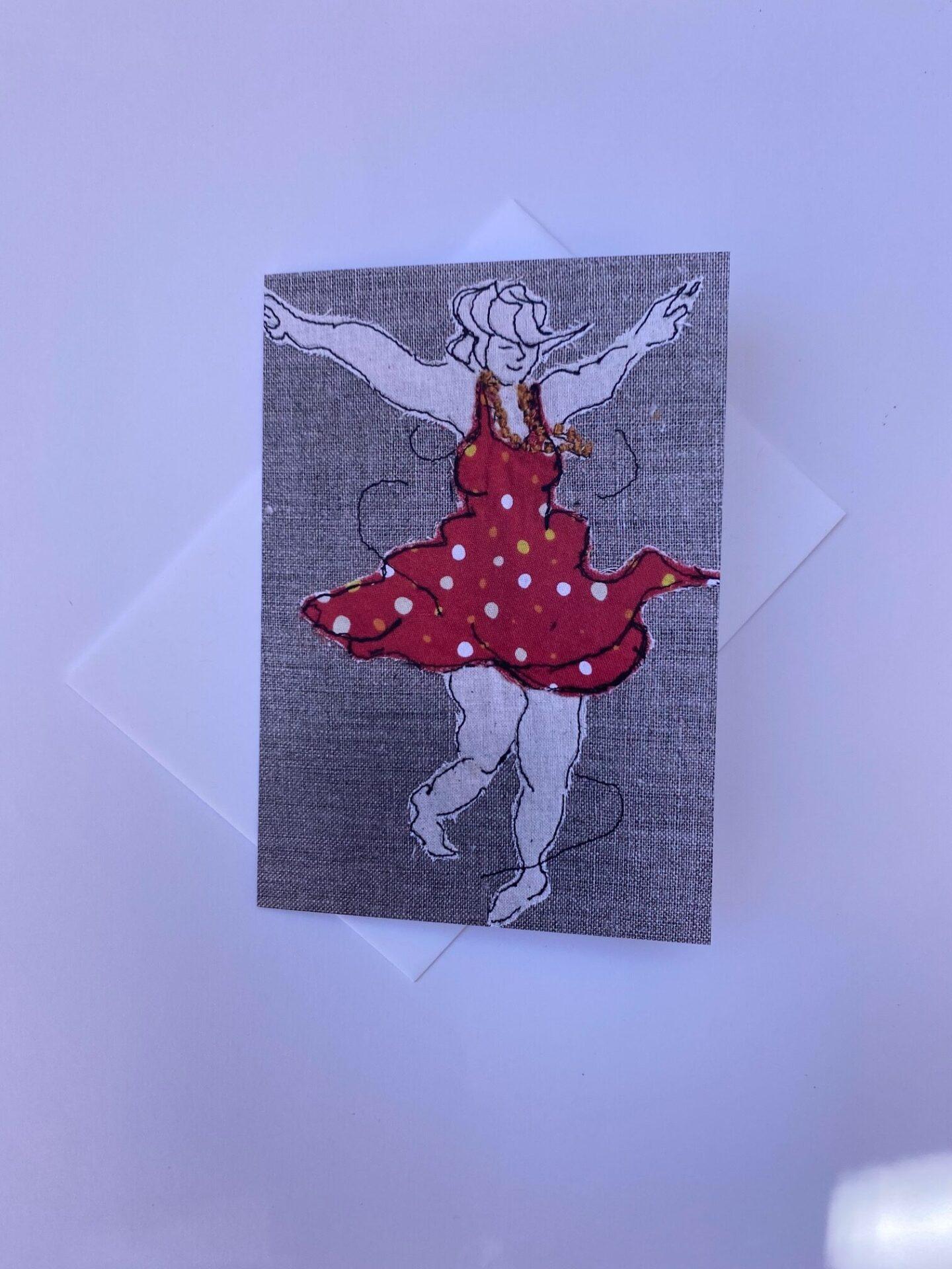 card-dancing-queen-polka-dot-by-juliet-d-collins-by-julietdcollins