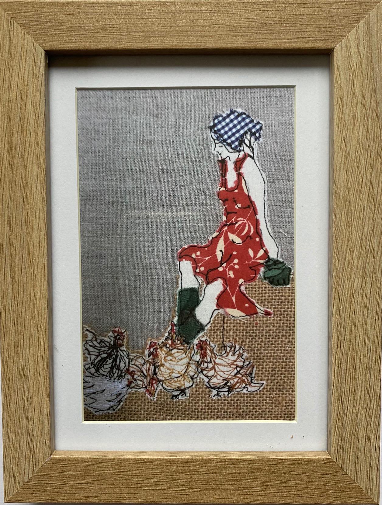Mistress Of The Chickens Artwork Print By Juliet D Collins (Prahran)