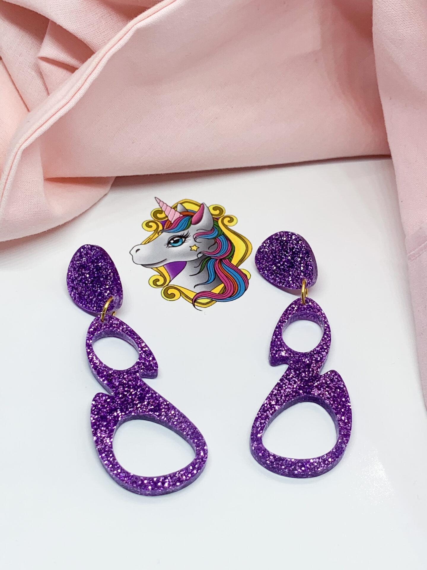 Esmay Dangles Purple by Unicorn Dreaming Unicorn Dreaming (Fitzroy)