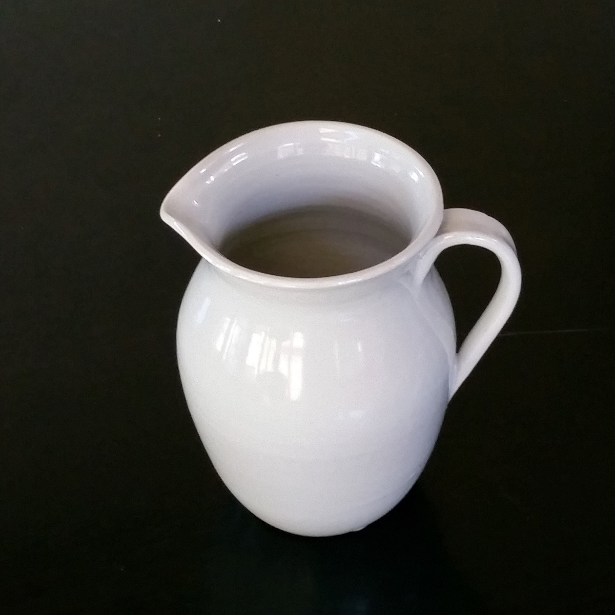 White Stoneware Jug By Clifton Hill Pottery