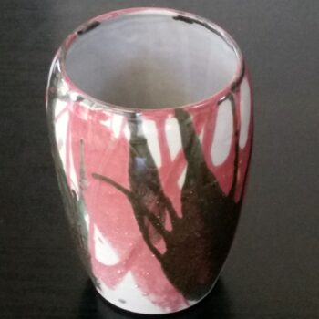 vase-black-and-red-splash-by-clifton-hill-pottery-by-Clifton Hill Pottery