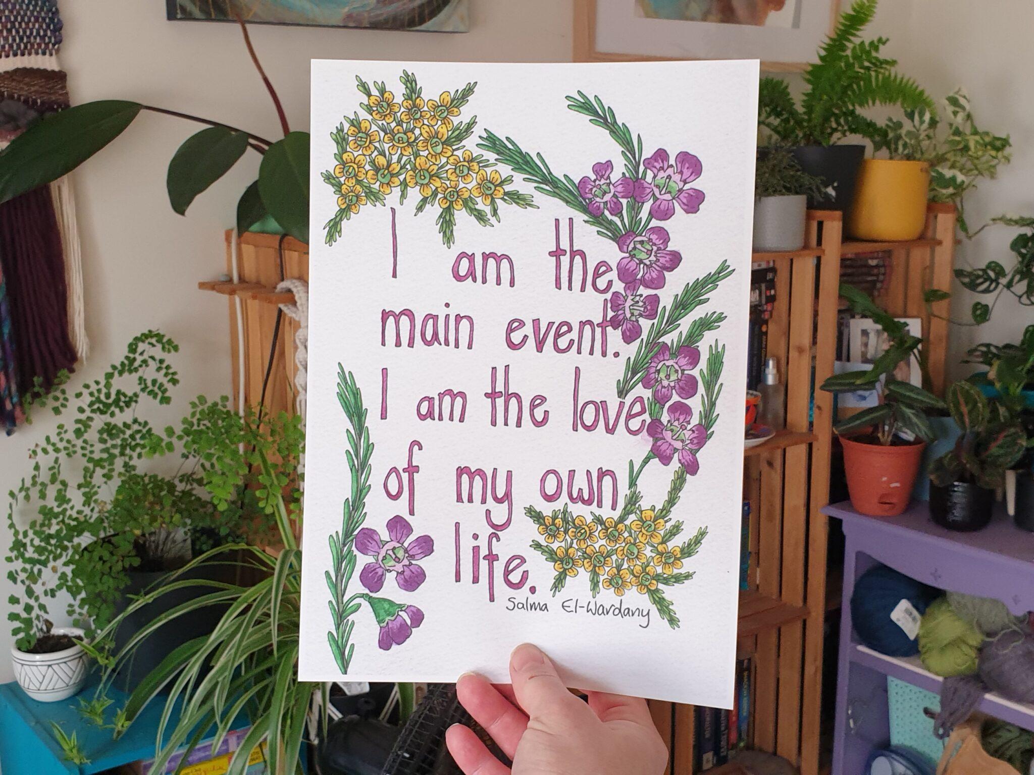 'Main Event' A4 Art Print Botanical Collection Sarah Sheldon By A Vibrant Nest