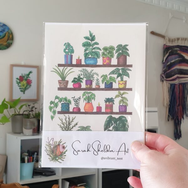 plant-shelfie-3-a5-art-print-botanical-collection-sarah-sheldon-by-a-vibrant-nest-by-avibrantnest