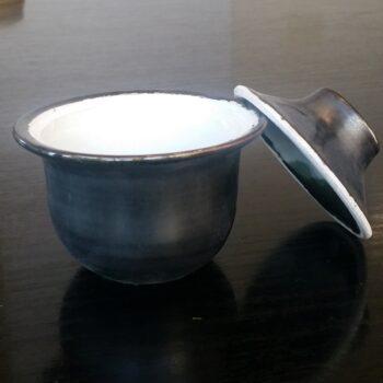 lidded-tea-bowl-gaiwan-in-black-glazed-porcelain-by-clifton-hill-pottery-by-Clifton Hill Pottery