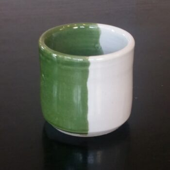 beaker-in-weatherwax-green-by-clifton-hill-pottery-by-Clifton Hill Pottery