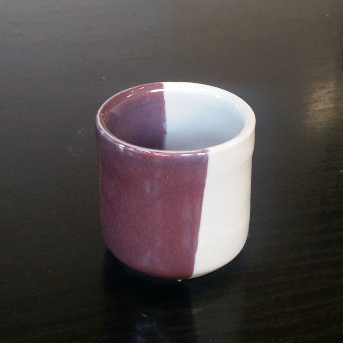 Beaker With Purple Glaze By Clifton Hill Pottery