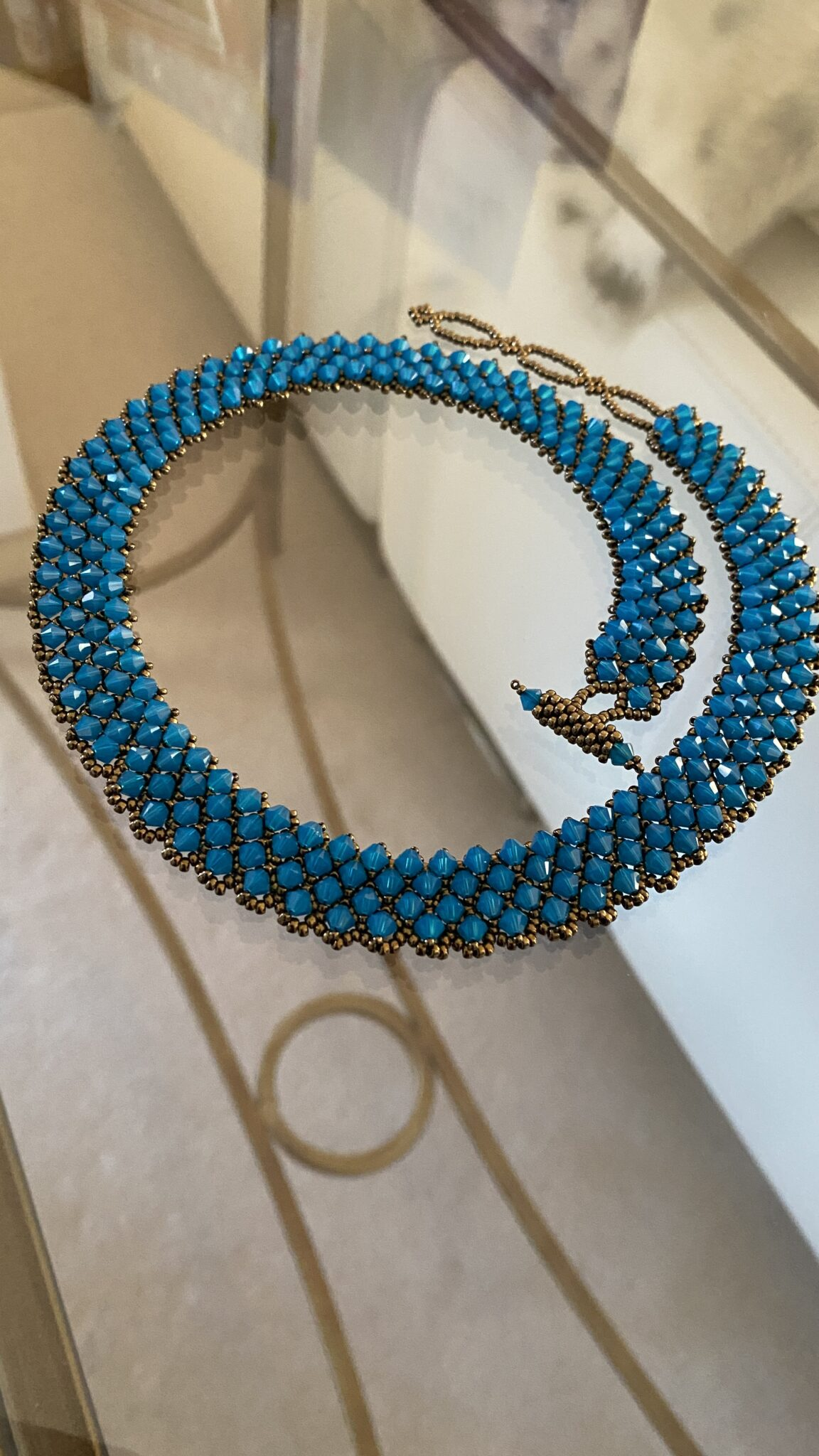 Swarovski Crystal Choker.  Handwoven By Covet And Desire