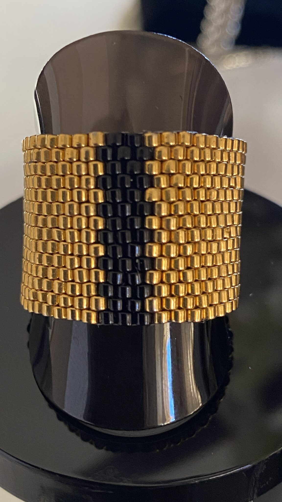 24k Gold Plated Handwoven Ring By Covet And Desire
