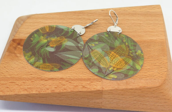 yellow-banksia-dye-sublimation-earrings-by-germanoarts-by-Germano Arts