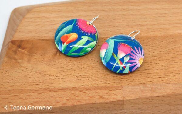 wild-flowers-dye-sublimation-earrings-by-germanoarts-by-Germano Arts