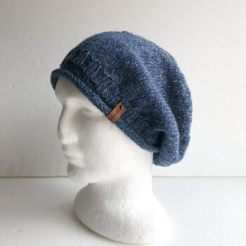 100-wool-blue-and-white-knit-women-slouchy-beanie-with-roll-up-brim-by-siennaknits-by-siennaknits