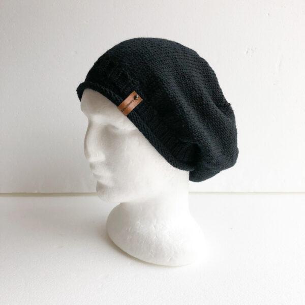 100-wool-black-merino-knit-women-slouchy-beanie-with-roll-up-brim-by-siennaknits-by-siennaknits