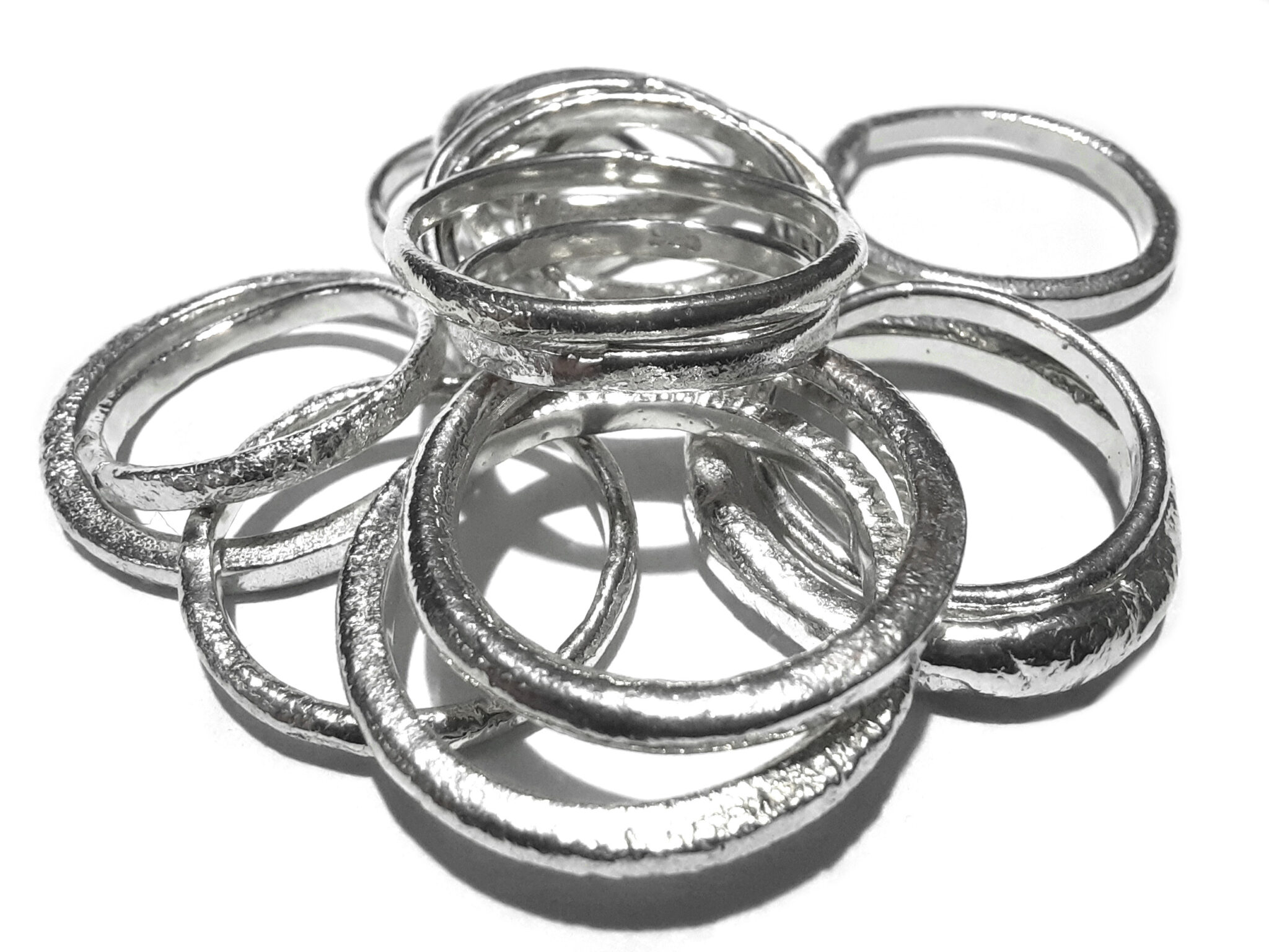 Melts. Sterling Silver Stacker Rings By R-Process