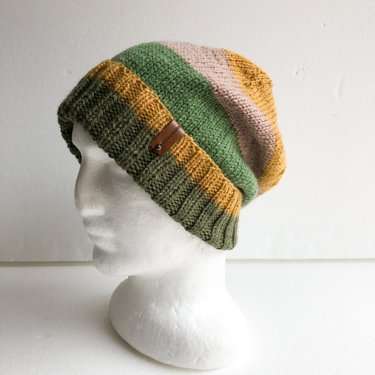 100% Wool Autumn Colours Unisex Knit Beanie-1 By SiennaKnits