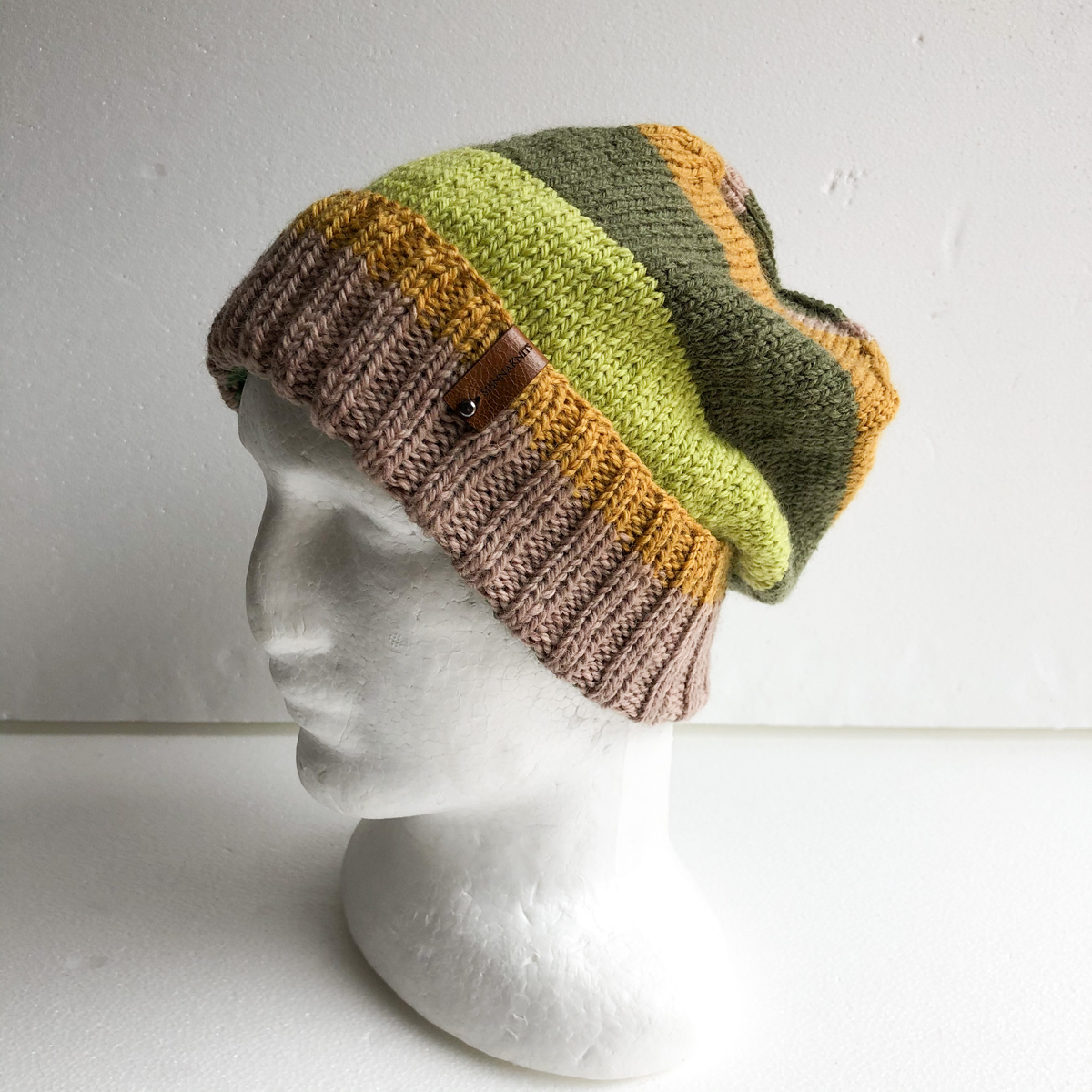 100% Wool Autumn Colours Unisex Knit Beanie-2 By SiennaKnits