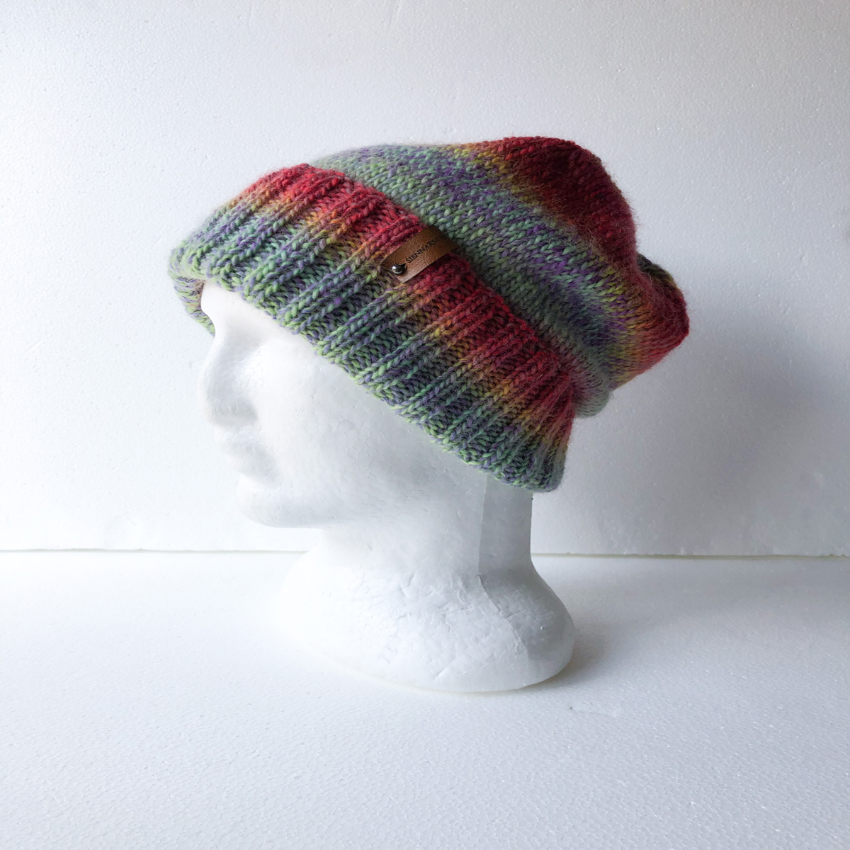 100% Wool Knit Beanie For Women With Foldable Brim By SiennaKnits