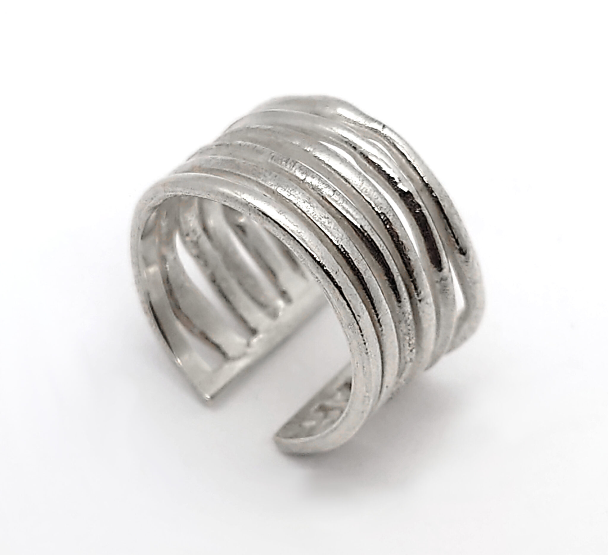 Super Stacker Sterling Silver Ring Size P  By R-Process