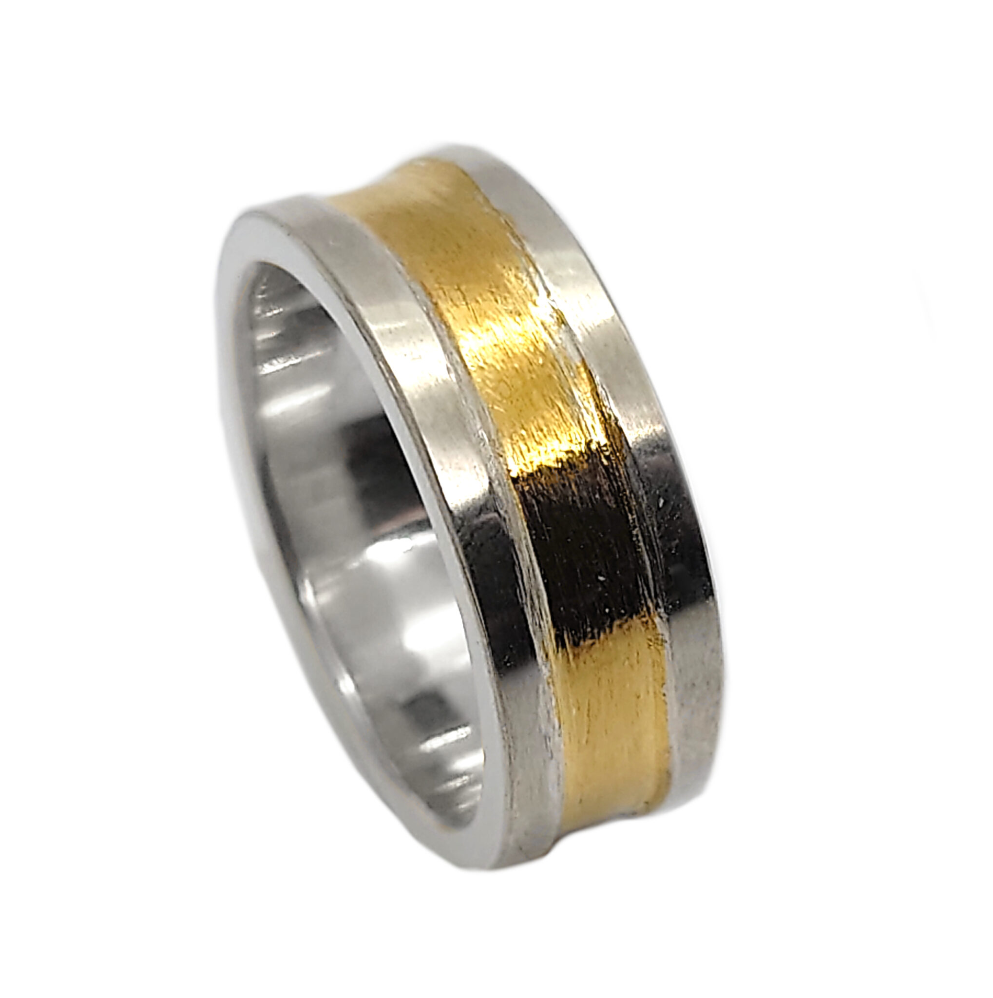 Spun Gold Ring. Sterling Silver With Keum-boo By R-Process