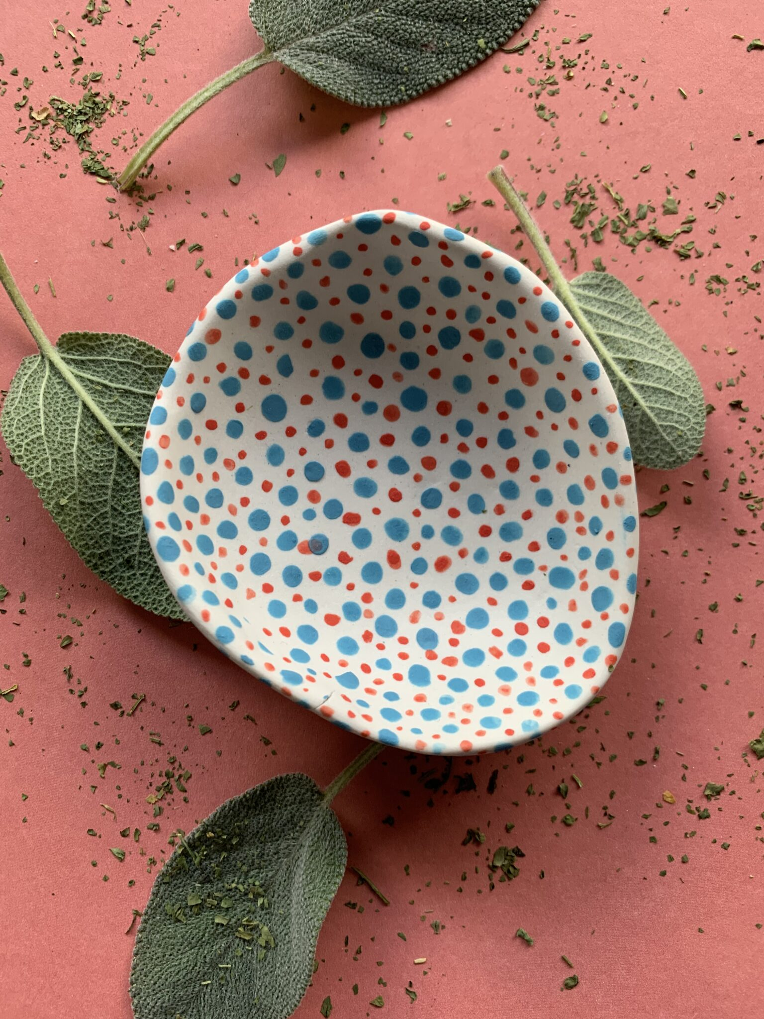funky-red-and-green-polka-dots-porcelain-bowl-by-the-intrepid-potter-by-theintrepidpotter