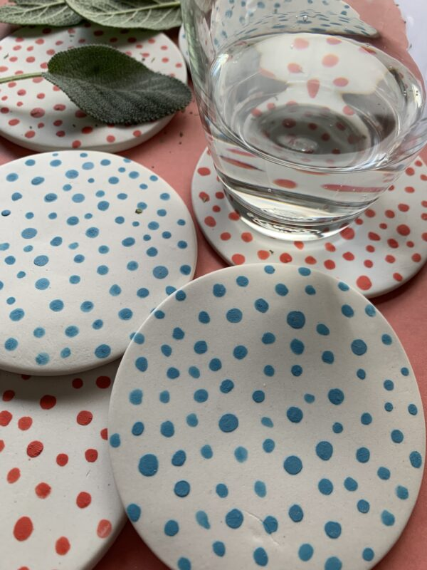 green-and-red-spotty-porcelain-coasters-by-the-intrepid-potter-by-theintrepidpotter
