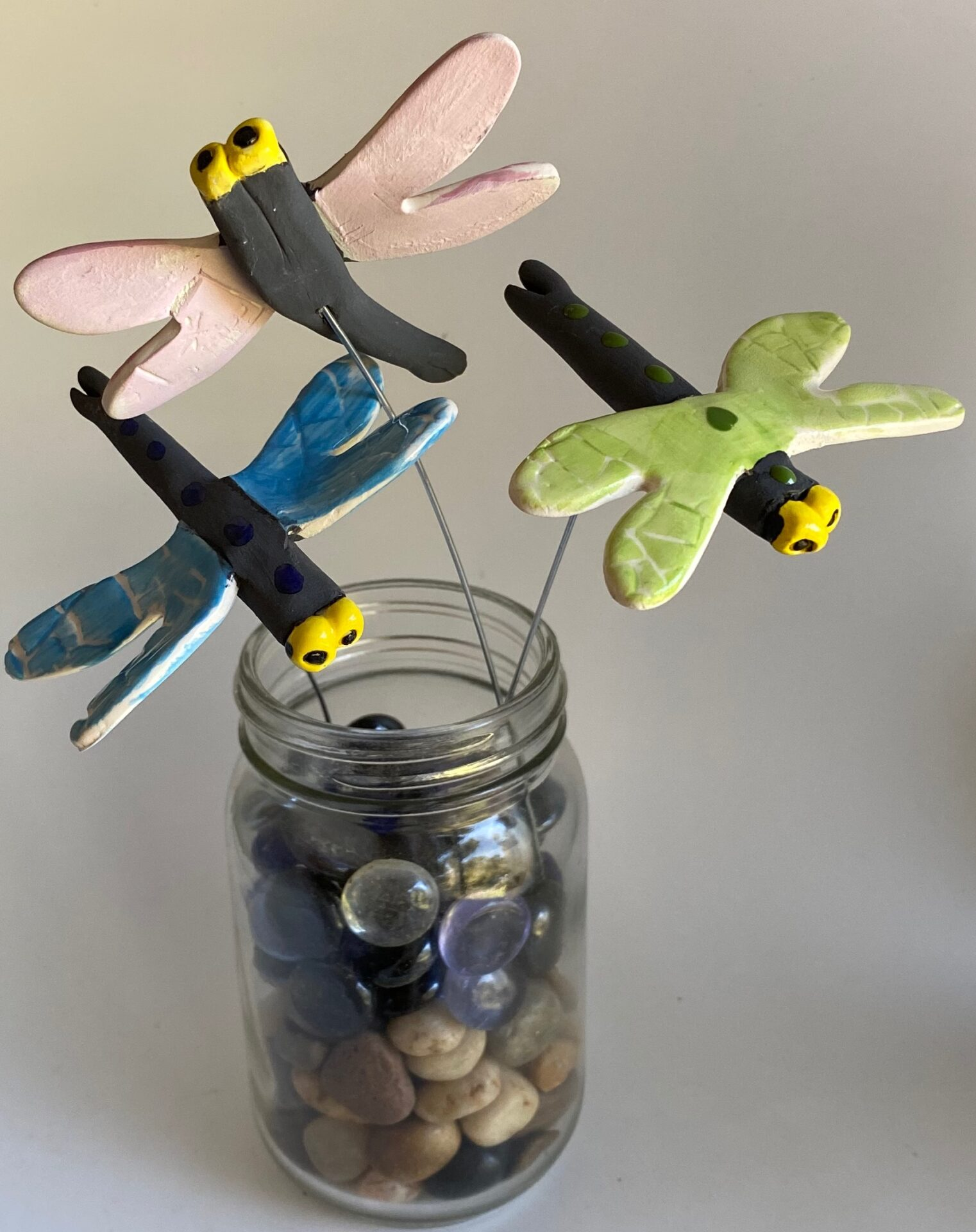 Ceramic Dragonflies By Iggiruss Designs