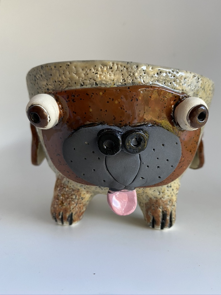 Ceramic Pug Pot By Iggiruss Designs