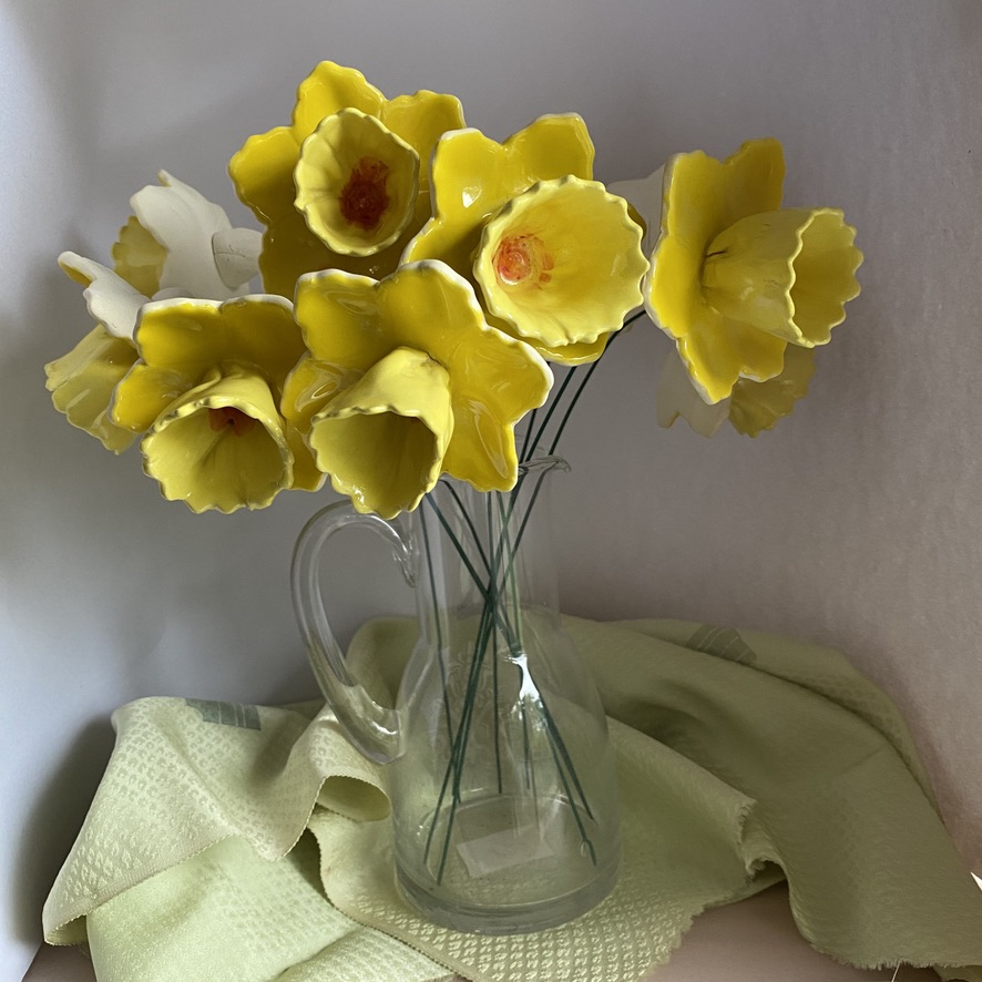 Ceramic Daffodil Flowers By Iggiruss Designs