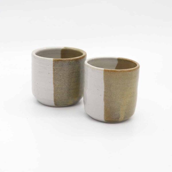 beaker-in-nickel-yellow-by-clifton-hill-pottery-by-Clifton Hill Pottery