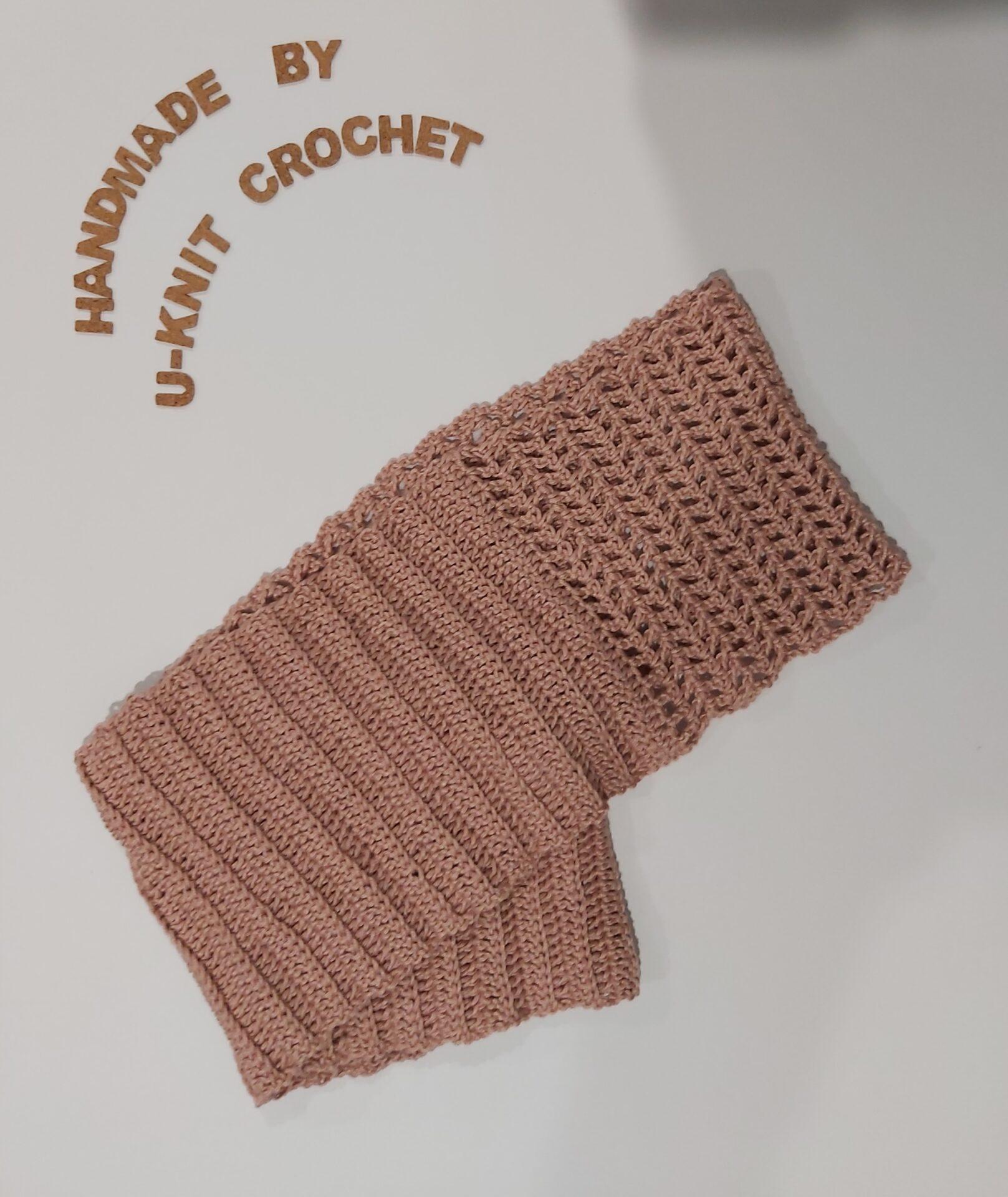 Beige Cowl Handmade By U-Knit Crochet