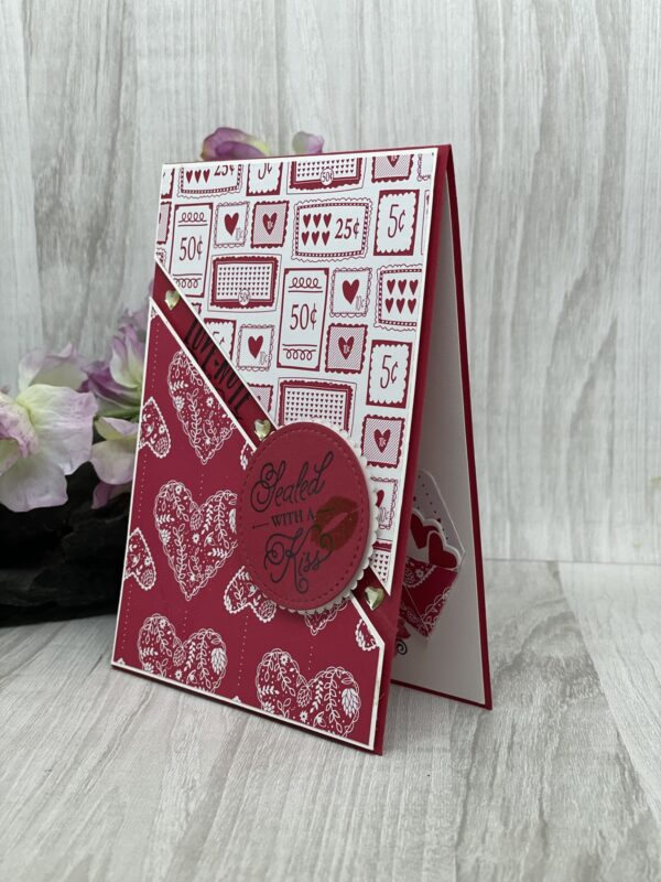 sealed-with-a-kiss-greeting-card-by-Germano Arts