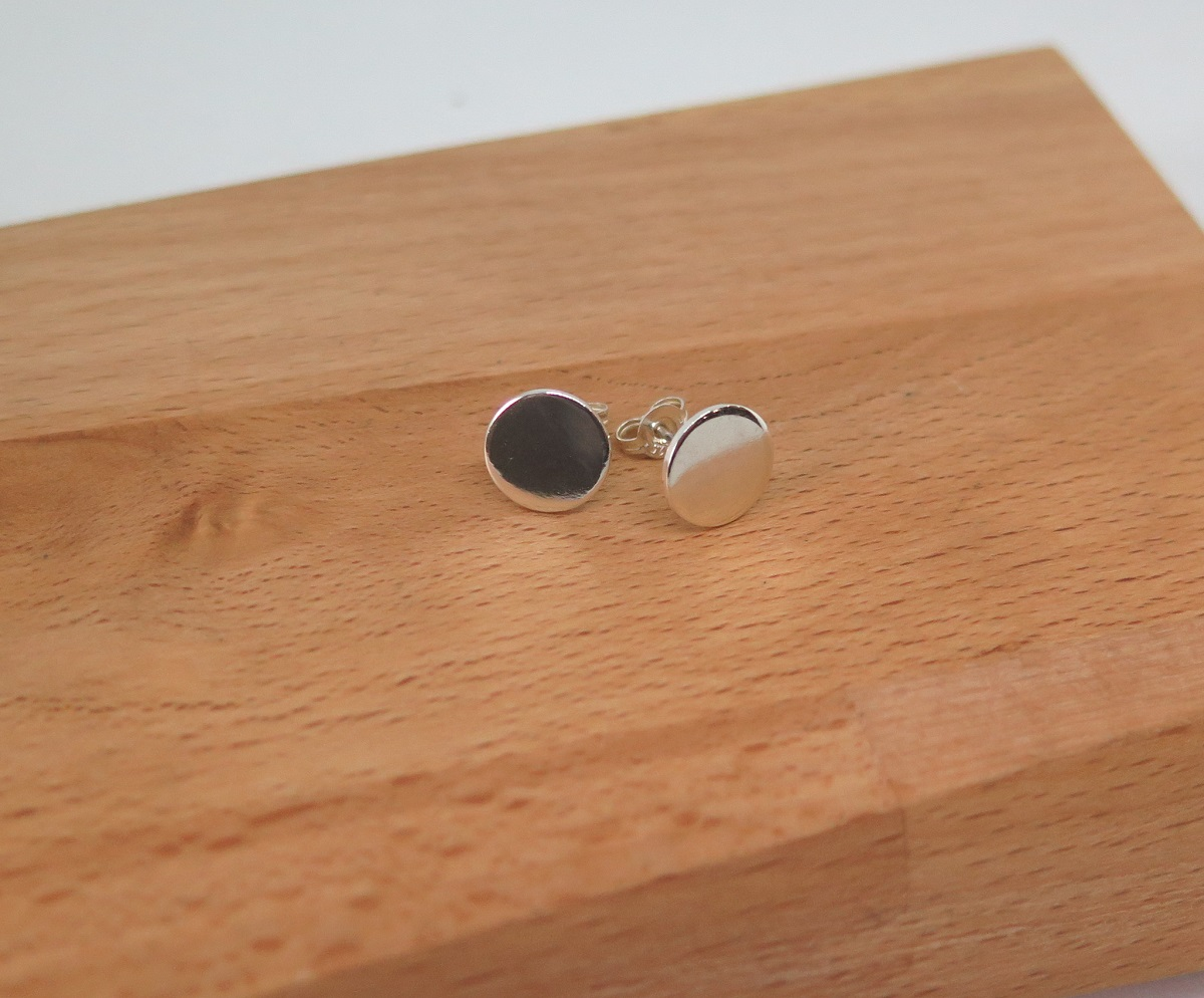 Circle Sterling Silver Studs By GermanoArts