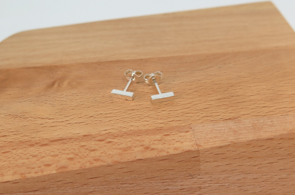 Bar Sterling Silver Studs By GermanoArts