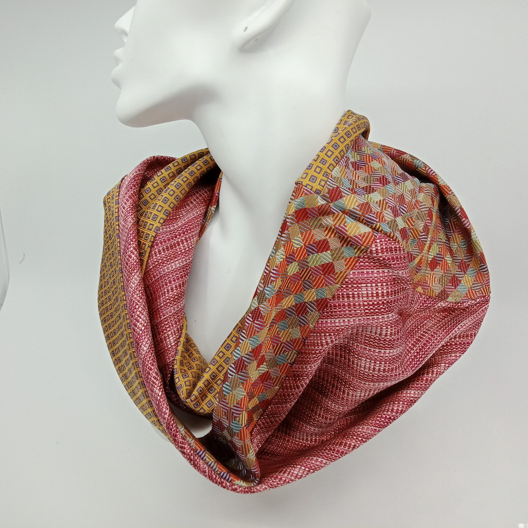 Tango Pink Silk Scarf By Judith Scott Upcycling