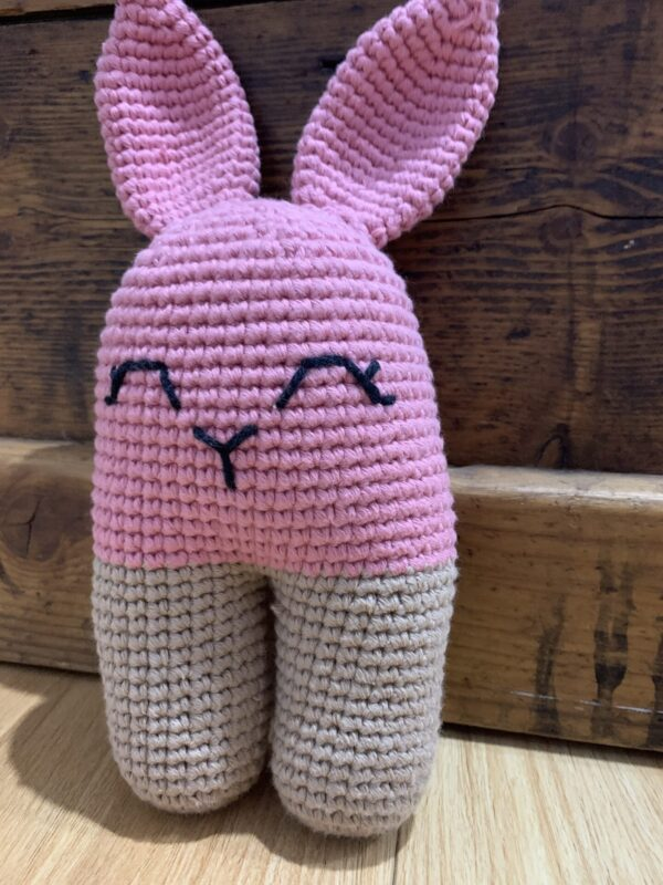 two-two-crochet-bunny-pink-and-brown-by-ernie-spackler-by-erniespackler