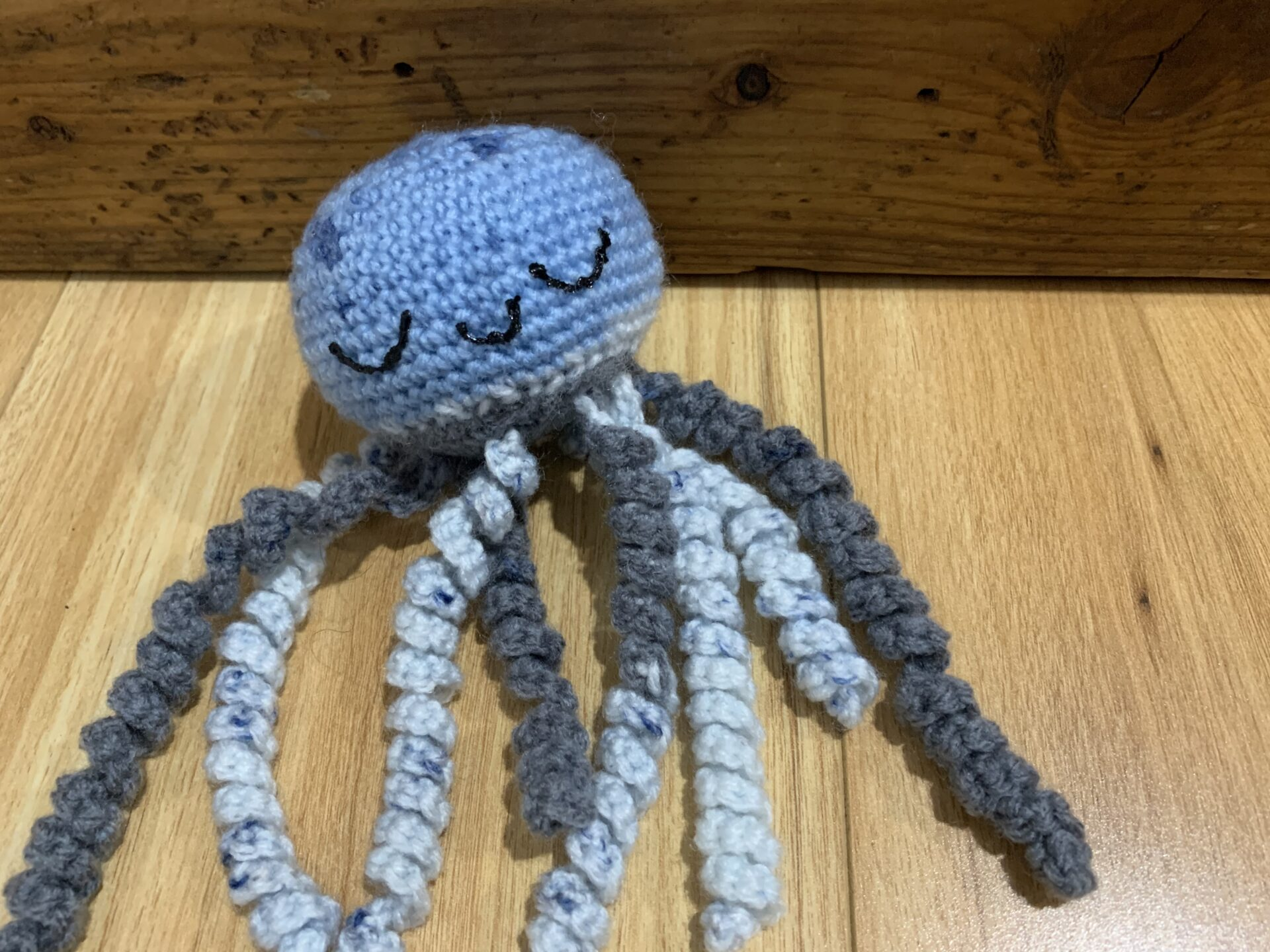 Octopus- Blue/gray Multi By Ernie Spackler