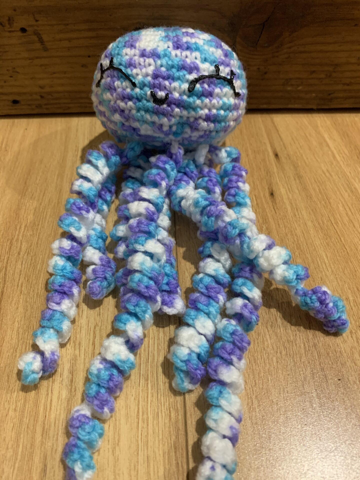 Crocheted Octopus – Multi Coloured Blue By Ernie Spackler