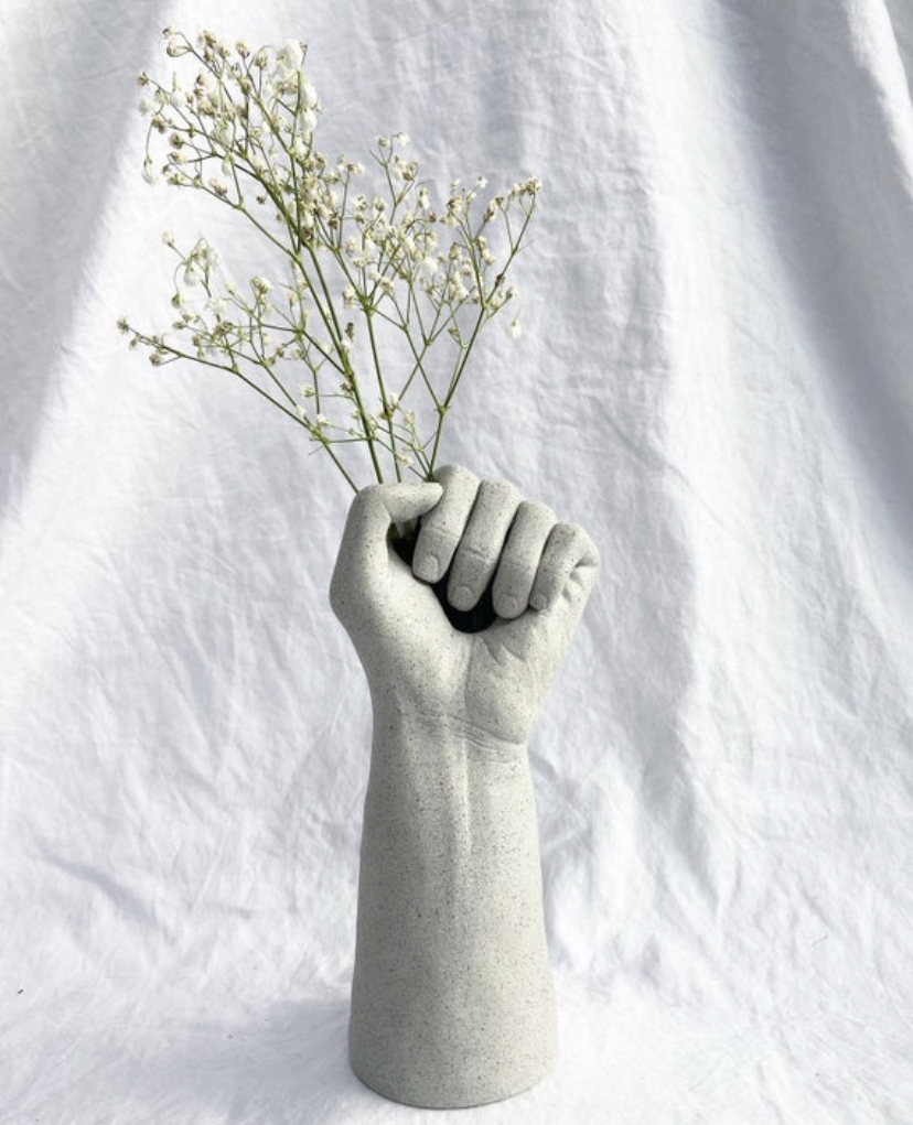 Hold Hand Vase By Kya Biant (Home Exhibition)