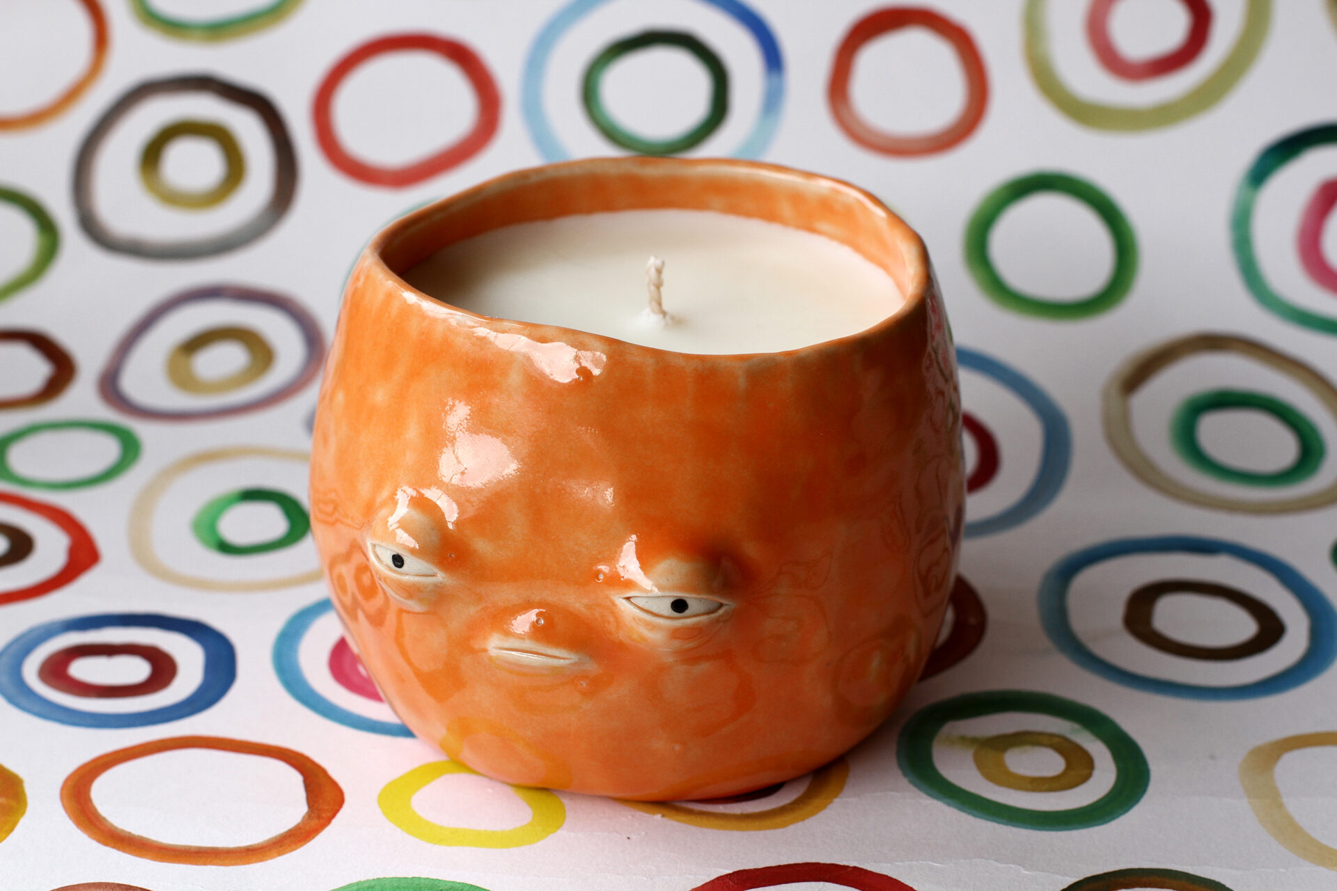 Orange Candle By Sausagewoman (Olivia Floate) (Home Exhibition)