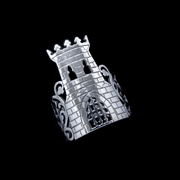 forbidden fortress silver castle ring by skadi jewellery design