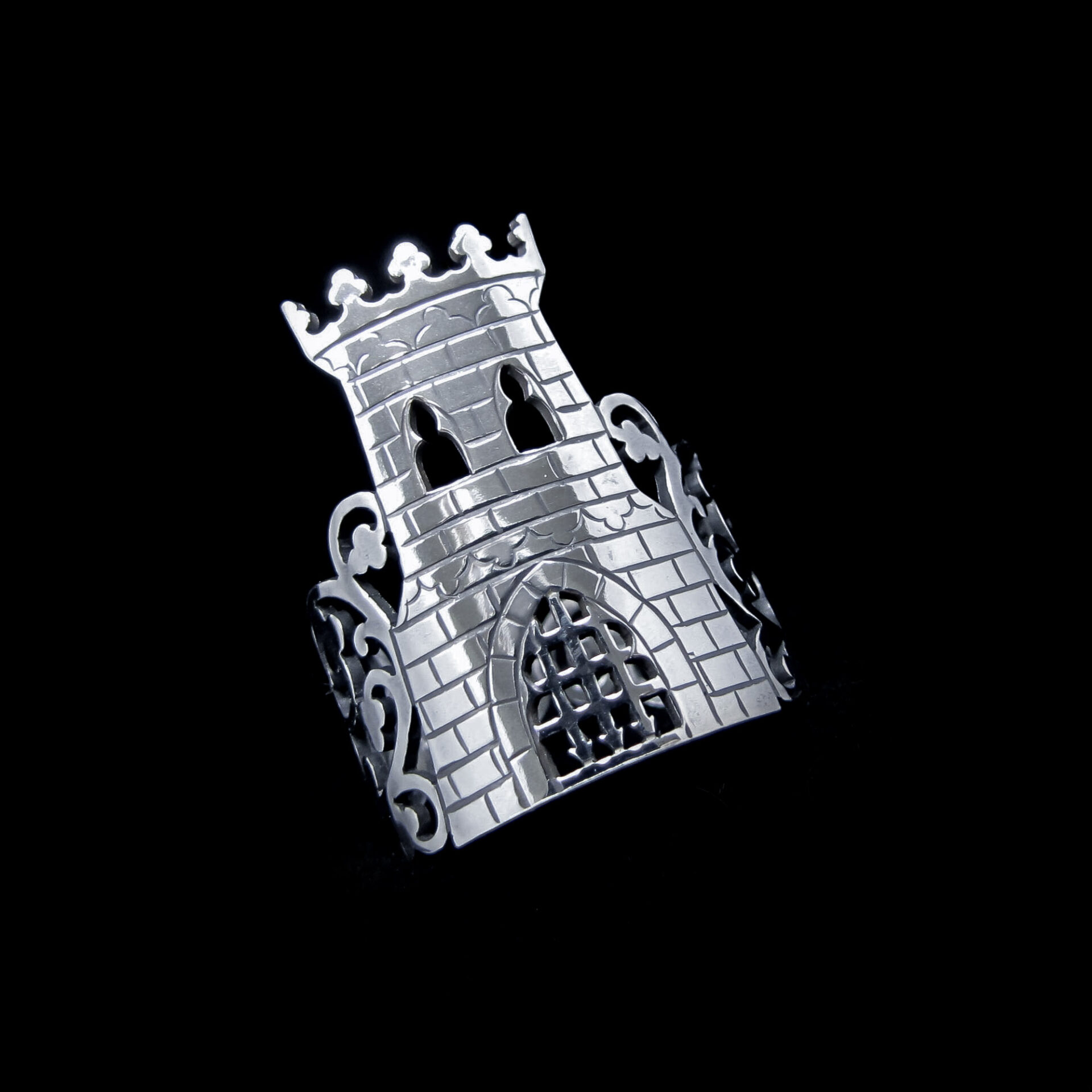 Forbidden Fortress – Silver Castle Ring By Skadi Jewellery Design