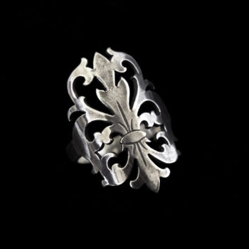 obsidian queen silver ring by skadi jewellery design