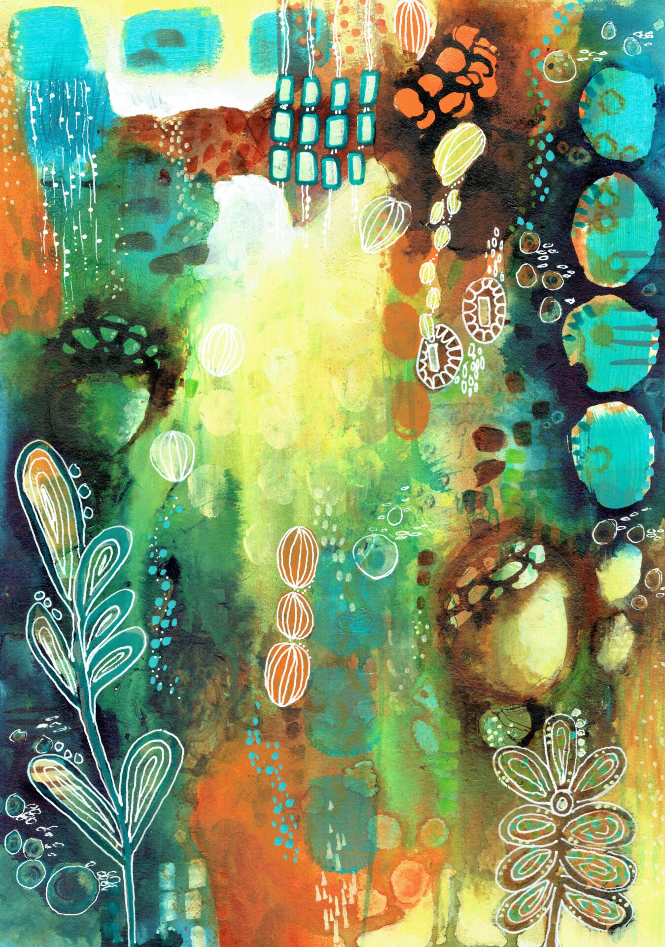 Wander Through The Garden By Deb Webb Showing In Works On Paper